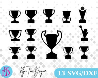 Trophy svg,dxf  for Design,Silhouette,Cricut and any more
