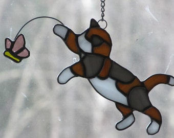 Calico Cat Stained Glass