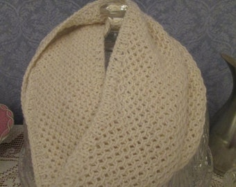 MOTHERSDAY Pale Ivory Cashmere Hand-knit Textured Cowl