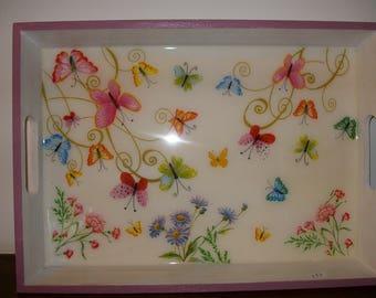 """""""Butterflies"""" serving tray"""