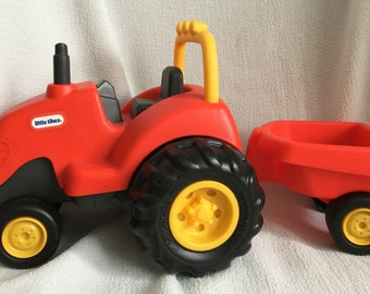 Little Tikes Red Farm Tractor and Cart Push Toy