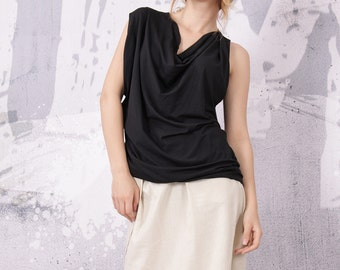 Bouse, Tunic, Top, Blouse with asymmetric sleeves, T-shirt, Top by UrbanMood - FP-MIMI-VL