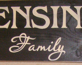 Custom Family Sign Plaque Personalized Gr8 Housewarming Wedding Gift HP Wooden