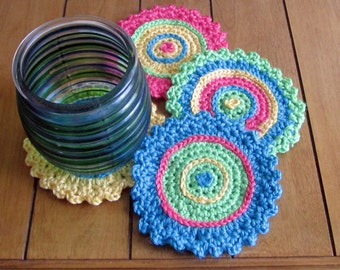 PDF Pattern for Calypso Colored Coasters/Doily