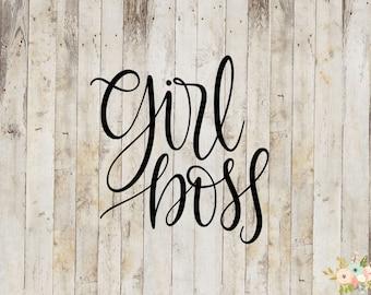 Girl Boss Decal
