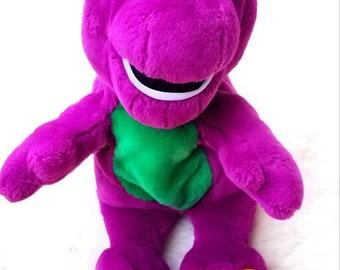"Vintage Interactive 14"" Plush Barney The purple dinosaur Actimates 1997"