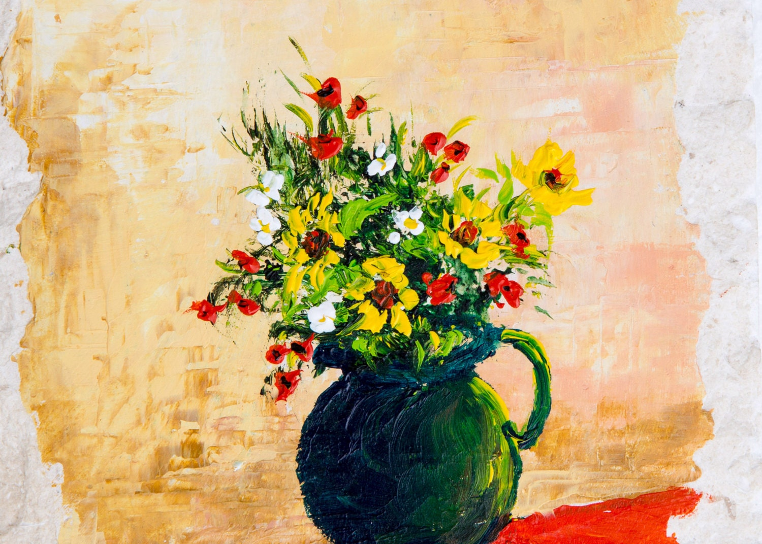 Flower Vase painting Painting Flowers Kitchen wall decor