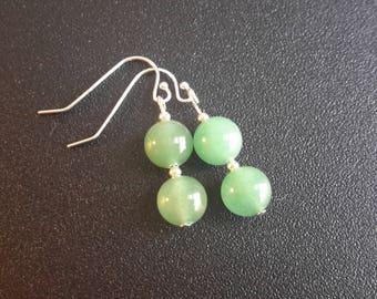 Sterling Silver Adventurine Earrings