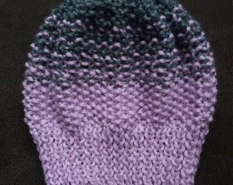 Baby hand knit  hat, very cozy