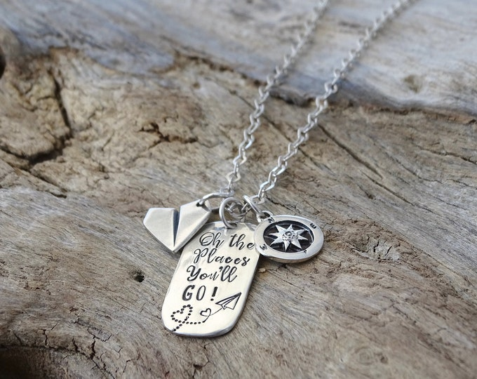 Graduation gift for her - graduation necklace - sterling silver necklace - college graduation gift - high school - for daughter, best friend