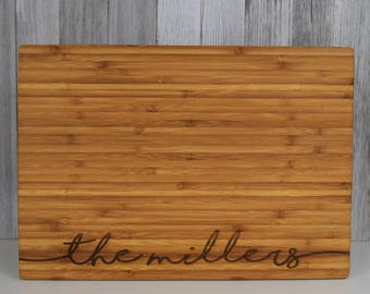 Personalized Cutting Board Engraved Cutting Board Custom Cutting Board Personalized Gift Personalized Wedding Gift Engagement Gift