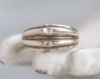 Chunky Silver Ring - Size 9 Brutalist Minimal Design
