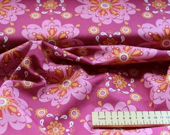 Floral Print Fabric- 100% Organic Monaluna Cotton