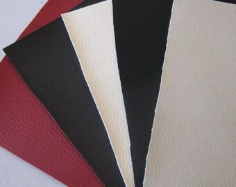 15 x 15 cm / 5pcs Faux Leather for Crafts / 5 colours