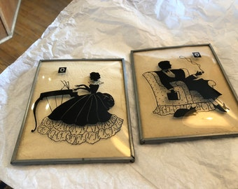 Pair of convex Silhouette Pictures