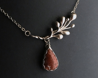 Crazy Lace Agate Necklace Set in Eco-Friendly Recycled Sterling Silver - Handcrafted - OOAK - DRhew Artisan Jewelry