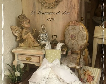 1/12 romantic hanger and dress-miniature-dolls house-hand made by Bea