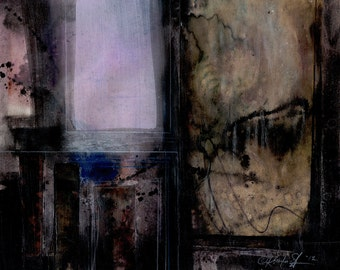 Abstract Stories ... No.8 ... Original colorful mixed media art painting by Kathy Morton Stanion EBSQ