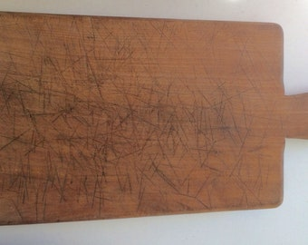 Large vintage cutting board wood chopping board