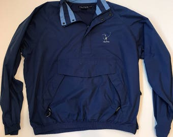 Vintage Style Nautica Half Zip Windbreaker Golf Jacket