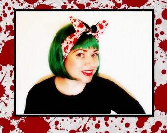 Betty Bandana in Blood Splatter....New Style & Size