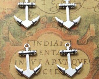 10 PCS  Anchor charms Silver tone Anchor Pendants/Charms 20 x 28 mm ASD1133