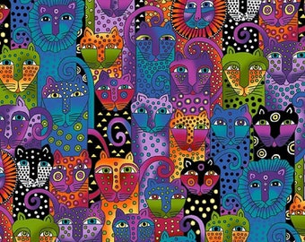 WILD ONES FLANNEL designed by Laurel Burch for Clothworks - bty - #Y2328-55