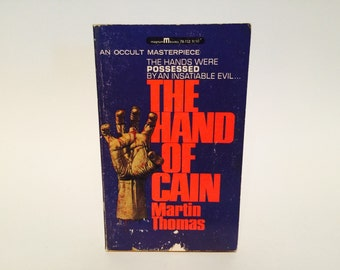 Vintage Horror Book The Hand of Cain by Martin Thomas 1967 Paperback