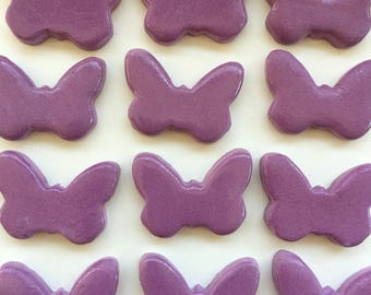 10 Handcrafted Purple Butterfly Tiles That Can Be Used In Mosaic And Other Mixed Media Projects