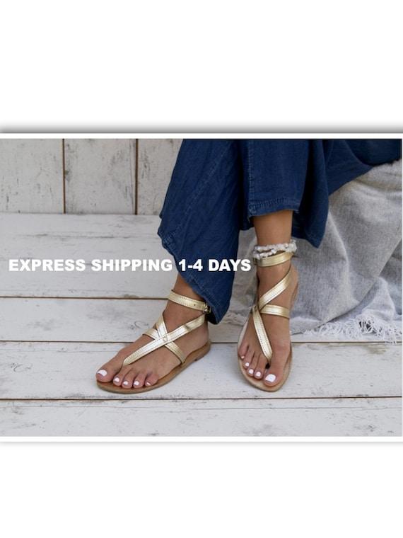 grecian sandals Greek ancient leather sandals thong sandals Greek sandals AGNETE gold flats GOLD handmade sandals ankle sandals cuff zwfzR5q