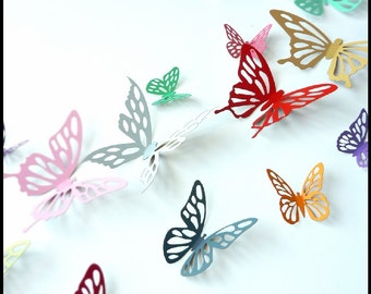 3D Wall Butterfly - 15 Colorful Butterflies for decorate your walls