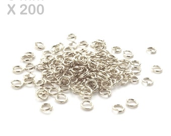 200 open 5 mm silver ring