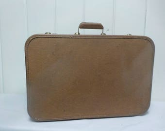 Vintage Brown Starfrost Suitcase Hardcase