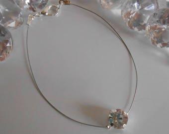 Elegant solitaire Bracelet Crystal rhinestone