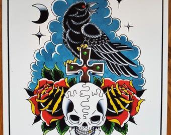 Tattoo Flash Print [RAVEN]