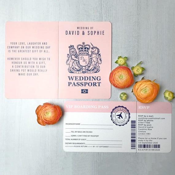 Boarding pass wedding invitation, Passport wedding invitations template, Destination Wedding Invitation printable, Invites PDF Personalised