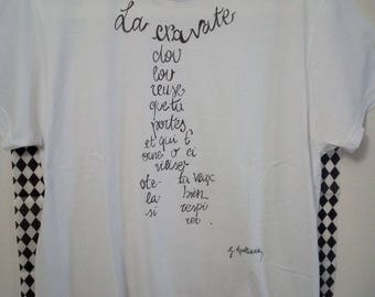 "T-Shirt Calligram ""La cravate"""