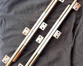 """45""""extend Pair Vintage Antique Steel Desk Flat File Cabinet Drawer Glides Slides"""