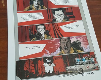 Ghostbusters sos ghost art print signed and numbered