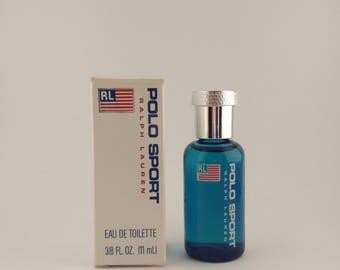 Vintage Mini Perfume Ralph Lauren Polo Sport 0.37 oz 11 ml Eau de Toilette