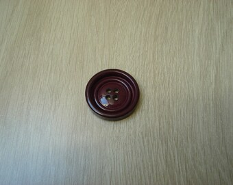 large vintage Burgundy round button