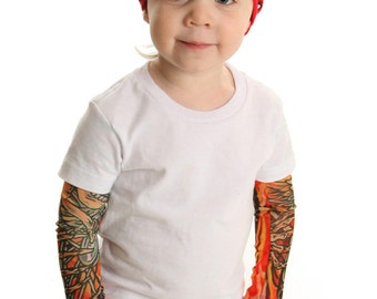 Tattoo Sleeve Flames White T shirt for Babies and Toddlers