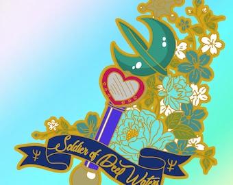 Sailor Neptune Lip Rod / Transformation Wand Pin - Hard Enamel **Pre-Order**