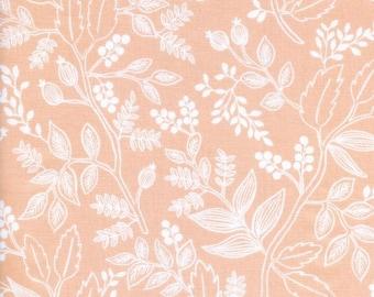 Cotton + Steel Les Fleurs Queen Anne Peach 100% Cotton Fabric