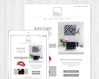 Art Portfolio E-mail Newsletter Template PSD//Template Design//Instant Download