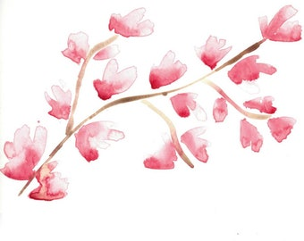 Cherry Blossom Watercolor Print