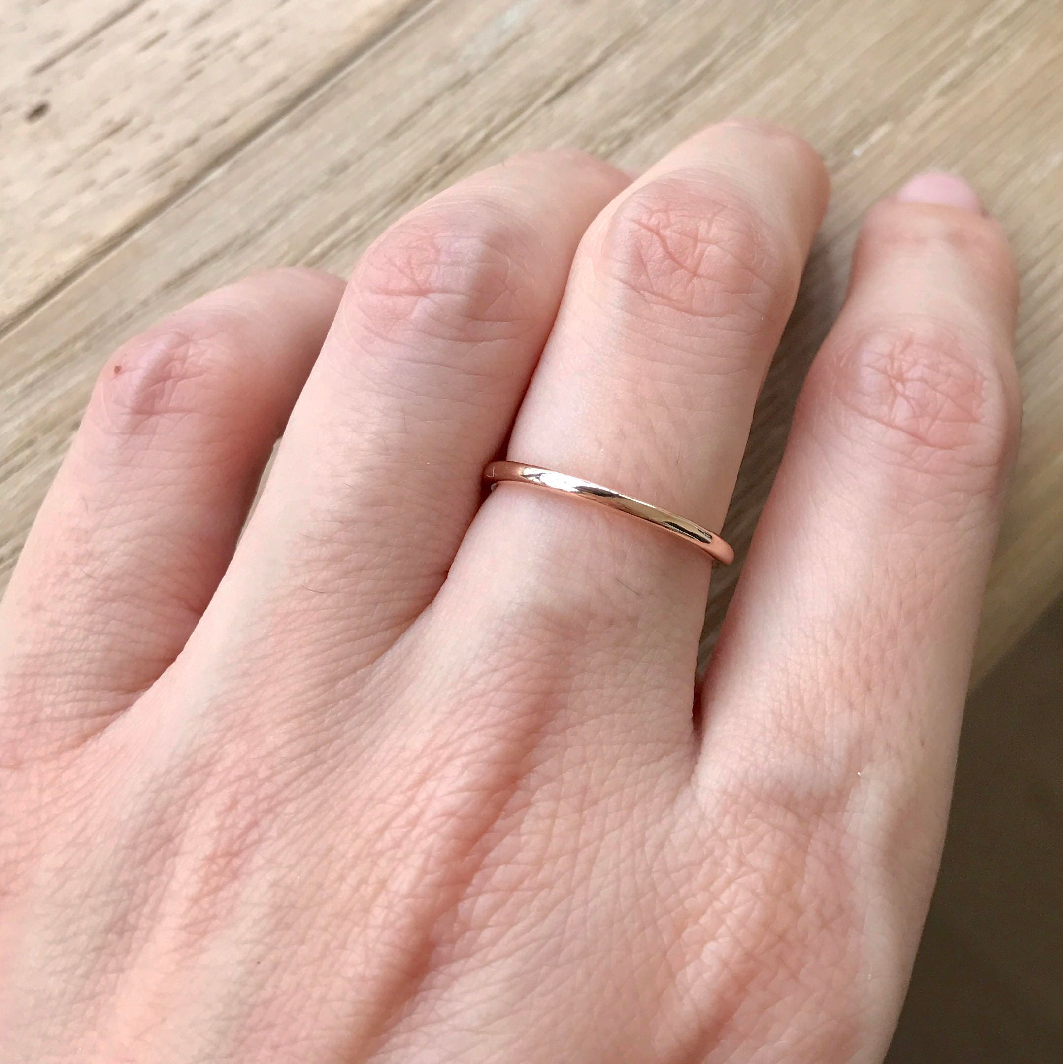 Rose Gold Wedding Band- 14k Rose Gold Band- Womens Wedding Band ...