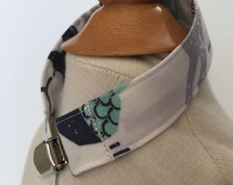 custom pacifier clip/toy strap ~ mint/navy woodland animals ~ universal fit~chic couture~baby accessories ~ custom from lillybelle designs