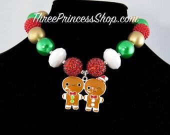 Gingerbread man - Bubblegum Necklace (Kids)