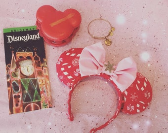 Peppermint Wishes Christmas Minnie Mouse Ears